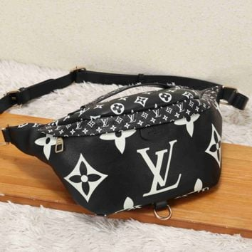 LV Fashion Leather Waist Bag Satchel Single Shoulder Bag