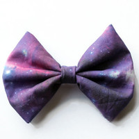 Galaxy Printed Hair Bow (S,M, or L)  (version 3)