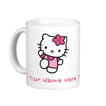 Hello Kitty Personalised Mug Cup Gift Printed Birthday Christmas Xmas Girl