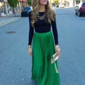Elm City Maxi Skirt : Swoon Boutique