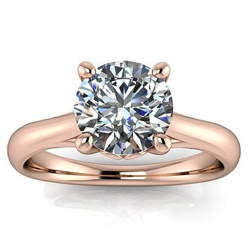 Moissanite Engagement Ring Solitaire Engagement Ring - Selma