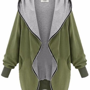 Women's Oversized Fashion Zip-Up Hoodie