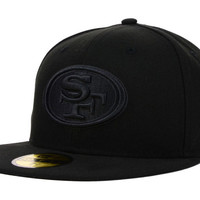 San Francisco 49ers NFL Black on Black 59FIFTY Cap