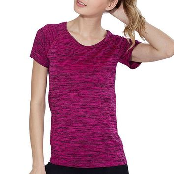 Short Sleeve Breathable Exercises Top