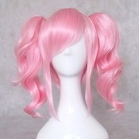 Dream2reality Cosplay_Code Geass Lelouch of the Rebellion_Anya Alstreim_2 ponytails_35+40cm_pink_Japanese kanekalon wigs