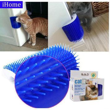 CREYLD1 Pet Products Cat Massager Wipes Cute Fiddle Artifact Blue Furniture and Scratchers cats furniture play Toy for Cats Brush Comb