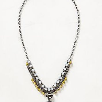 NWT Anthropologie Jeweled Cameo Necklace