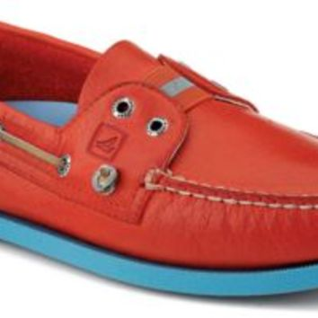 Sperry Top-Sider Authentic Original Color Pop Gore Boat Shoe Orange/BlueLeather, Size 11.5M  Men's
