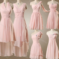 Bridemaid dress In different style lond and short Chiffon