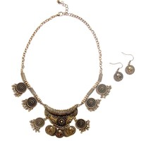 Boho Chic Necklace with Earrings