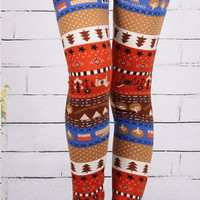 @Free Shipping@ New Style Women Blends Orange Leggings One Size H005o