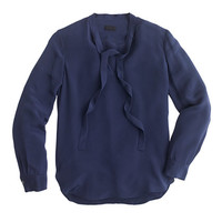 J.Crew Womens Collection Silk Secretary Blouse