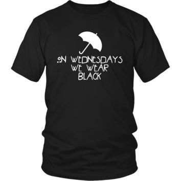 American Horror Story On Wednesday's We Wear Black T-Shirt