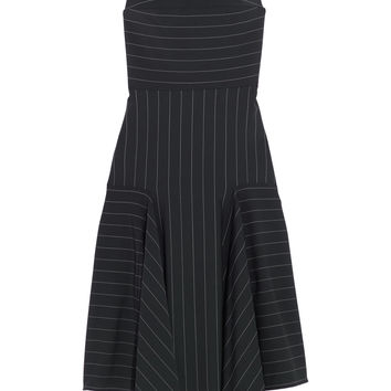 Dion Lee - Asymmetric pinstriped stretch-cady dress