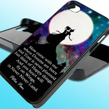 Peter Pan Quote for iPhone 4/4s Case - iPhone 5 Case - Samsung S3 - Samsung S4 - Black - White (Option Please)