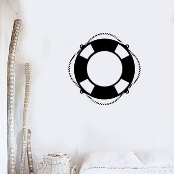 Vinyl Wall Decal Lifebuoy Ship Yacht Beach Lifeguard Sailor Marine Art Stickers Mural (ig5438)