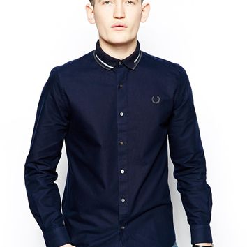 Fred Perry Laurel Wreath Shirt with Polo Collar