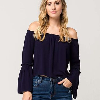 SEE YOU MONDAY Off The Shoulder Womens Top | Blouses