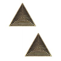 Trippy Triangle Glitter Pasties
