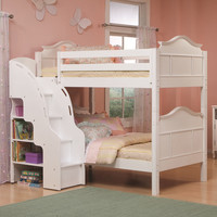Bolton Emma Bunk Bed with Bookcase Stairs