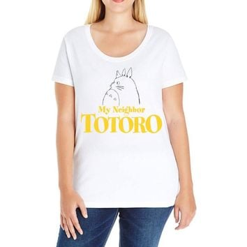 My Neighbor Totoro Ladies Curvy T-Shirt