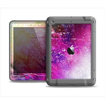 The Abstract Neon Paint Explosion Apple iPad Mini LifeProof Nuud Case Skin Set