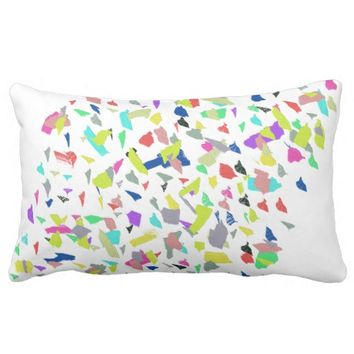 Abstract Art Positive Vibes Throw Pillow Cushion