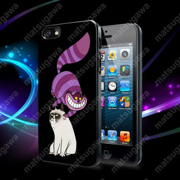Cheshire Cat and Grumpy Cat Case For iPhone 5, 5S, 5C, 4, 4S and Samsung Galaxy S3, S4