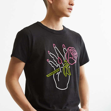 Big Bud Press Nail Salon Neon Tee - Urban Outfitters