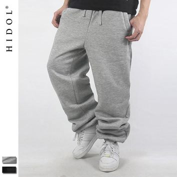 Oversized Sweat Pants Men Hip Hop Loose Joggers Parkour Trousers Brand clothing Fleece Black/Gray 5XL Baggy Sweatpants Kanye