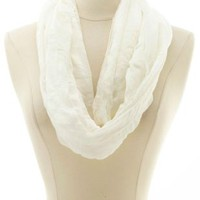 Lace Trim Infinity Scarf by Charlotte Russe