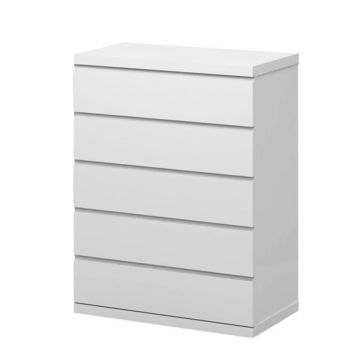 Anna Chest of 5 Drawers High Gloss White