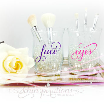 Face and Eye Makeup Brush Holders - Makeup Organize - Makeup Vanity- Makeup Brush Cup- Makeup Brush Case - Cosmetic Brushes Organizer