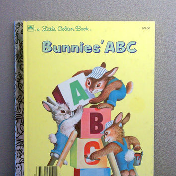 Vintage Children's Book - Bunnies ABC Little Golden Book