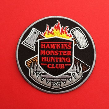 Hawkins Monster Hunting Club - Stranger Things Patch