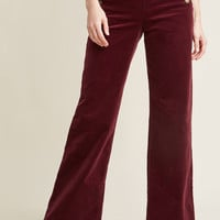 The Madison Pant in Burgundy