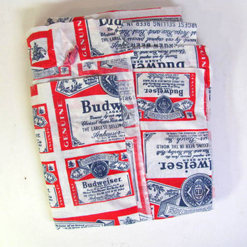 Vintage BUDWEISER Sheets / Queen size