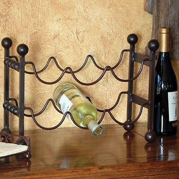 Montana Rustic Mission 6 Bottle Horizontal Wine Rack