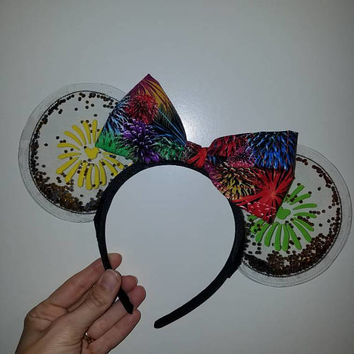 Fireworks - wishes - happily ever after - illuminations - clear ears - Minnie Ears - Walt Disney World - Disneyland -
