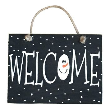 Winter Welcome Hanging Sign