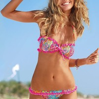 Floral Ruffle Bandeau Top - Beach Sexy® - Victoria's Secret