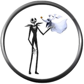 Zero And Jack Skellington Pumpkin King Halloween Town Nightmare Before Christmas 18MM - 20MM Charm for Snap Jewelry New Item