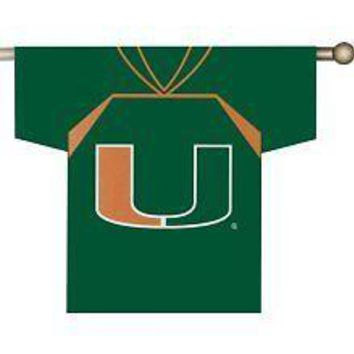 Miami Hurricanes 2-sided JERSEY Outdoor Banner Flag Football University of