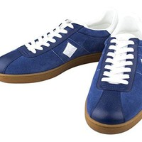 LOUIS VUITTON. Luxembourg' Blue Leather Sneakers Shoes Size 8.5 US 41.5 EU