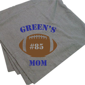Personalized Football Mom Stadium Blanket / Throw Blanket