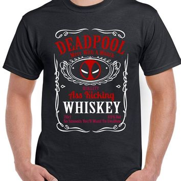 Deadpool Whiskey - Mens Funny Superhero T-Shirt TV Movie Film Whisky