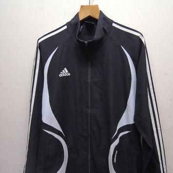 25% SALES ALERT Vintage 90's Adidas Sweater Fully Zipper Bomber Jacket Sport Wind Brea