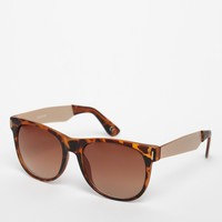 ASOS Wayfarer Sunglasses with Metal Arm - Tortoishell
