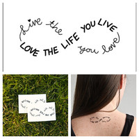 Infinity  temporary tattoo Set of 2 by Tattify on Etsy