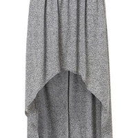 Grey Marl Dip Maxi Skirt